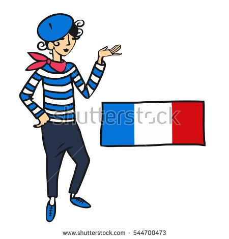 Cartoon French Man Stock Illustrations  2067 Cartoon