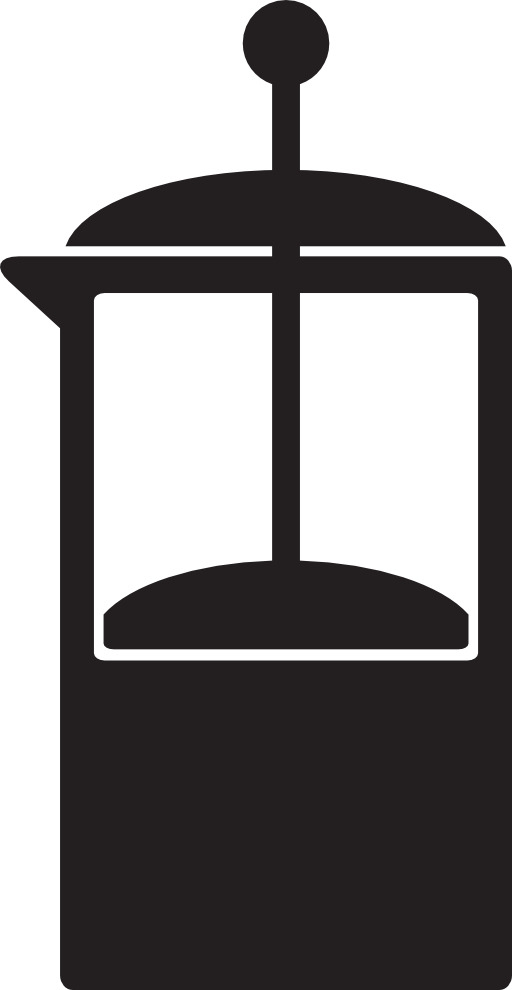 Kitchen Icon Coffee French Press Clipart.