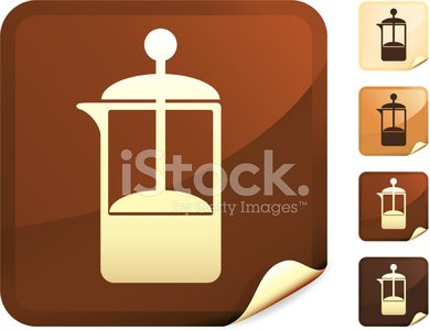 Coffee French press internet royalty free vector art Clipart.