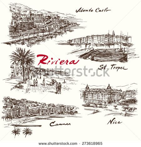 French Riviera Stock Vectors & Vector Clip Art.