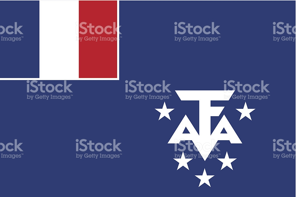 French Southern And Antarctic Lands Flag stock vector art.