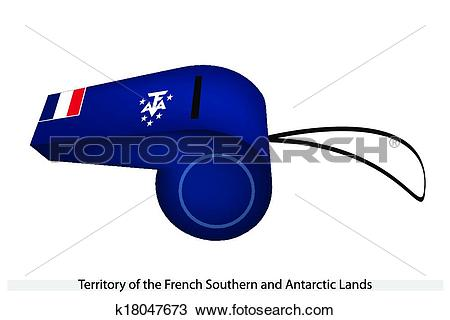 Clipart of A Whistle of French Southern and Antarctic Lands.