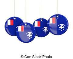 Flag of french southern territories Illustrations and Clip Art.