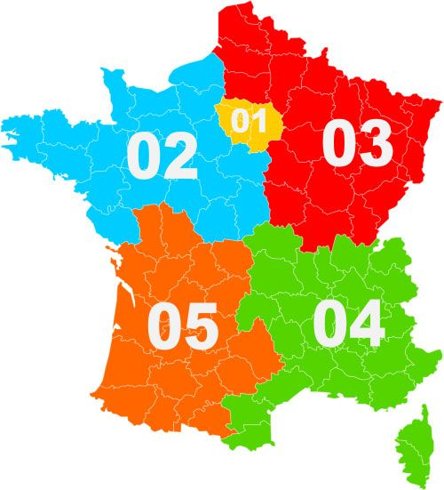 Telephone Area Code system in France.