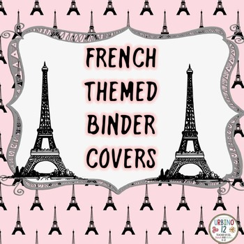 French Themed Binder Covers.