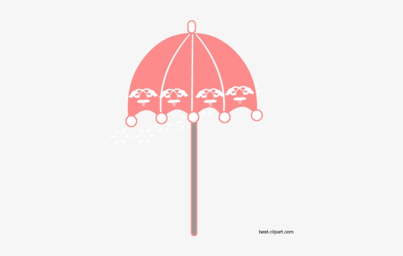 Free French Parasol Clip Art.