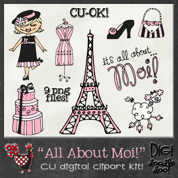 All About Moi Fun French themed CU clipart All About Moi Fun.