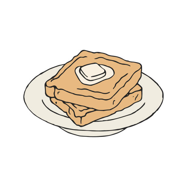 Best French Toast Illustrations, Royalty.