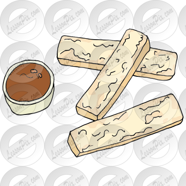 French Toast Sticks Picture for Classroom / Therapy Use.