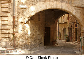 Stock Photography of Typical Stone French Town House in Village.
