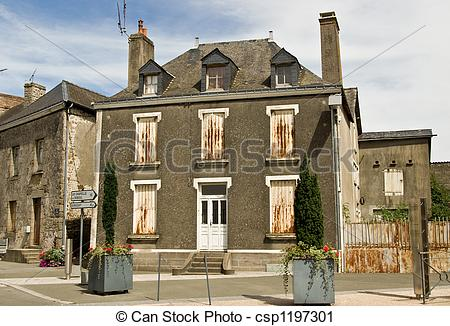 Stock Photography of French town house.