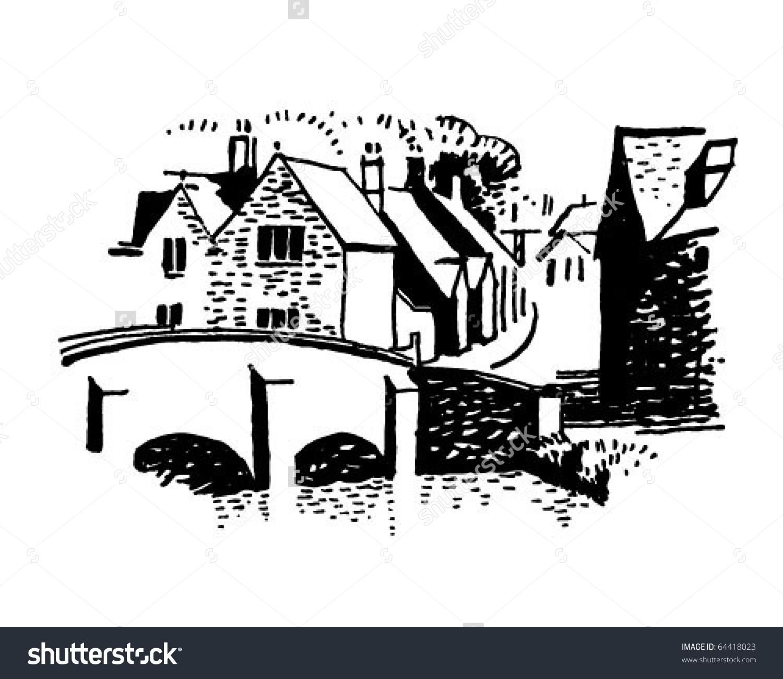 French Village Stock Illustrations & Cartoons.