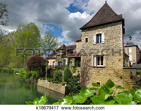 Picture of French village k18679417.