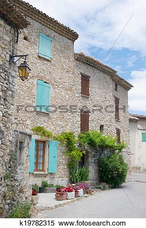 Stock Image of French village k19782315.