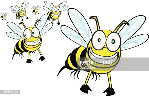 Swarm Of Wasps Vector Art