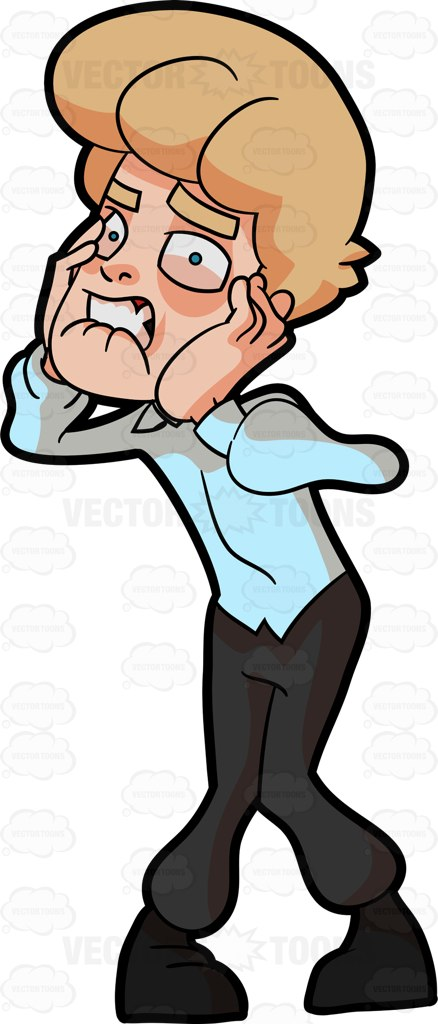 541 Frustrated free clipart.