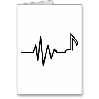 Frequency note music card.
