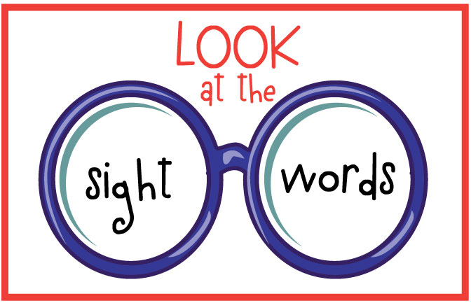 High Frequency Words Clipart.