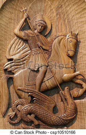 Stock Illustration of ortodox frescoes,wood carving csp10510166.