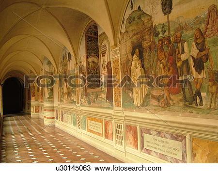 Stock Photo of abbey, Toscana, Tuscany, Italy, Buonconvento, Monte.