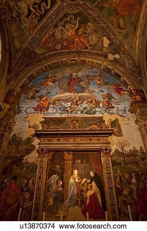 Stock Photo of Carafa Chapel, frescoes by Filippino Lippi, S.