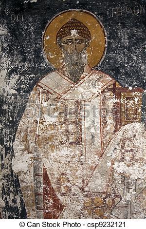 Clipart of Byzantine Icons damaged.