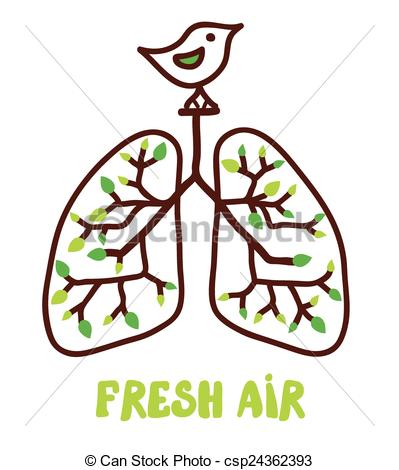 EPS Vectors of Lungs and nature.