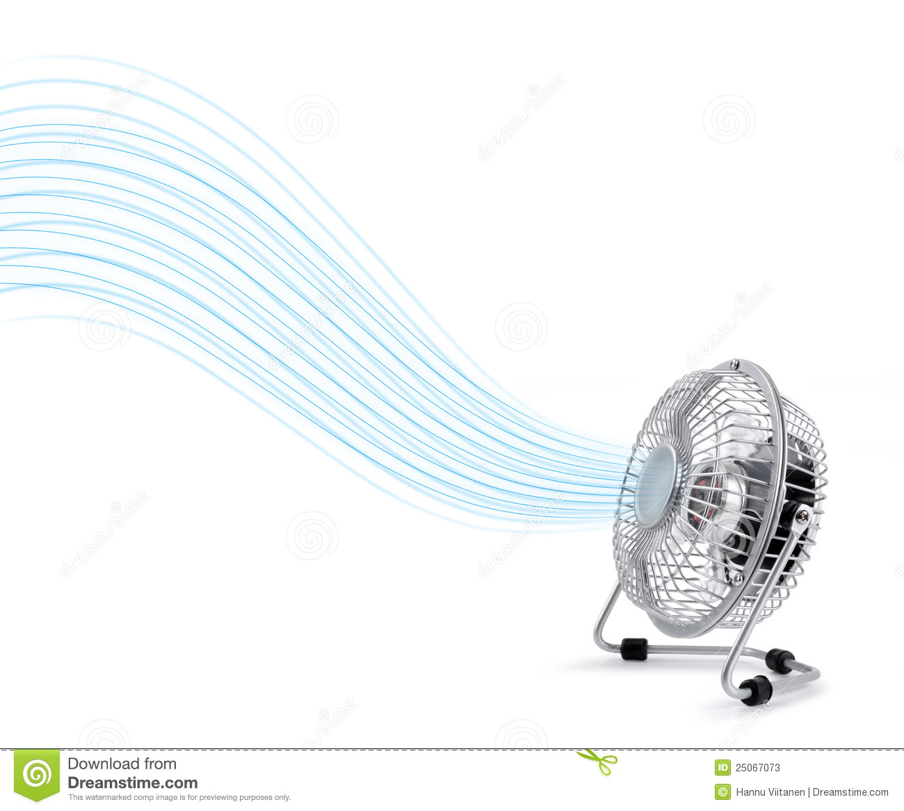 Electric Cooler Fan Blowing Fresh Air Stock Images.
