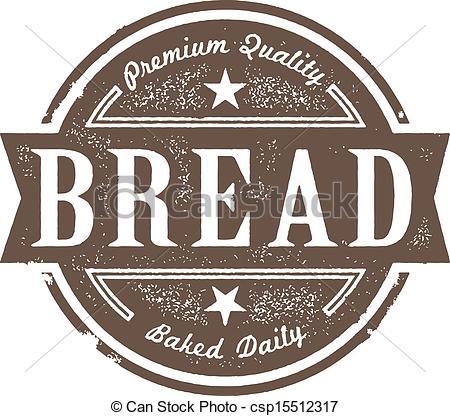 Vector Clip Art of Vintage Fresh Baked Bread Label.