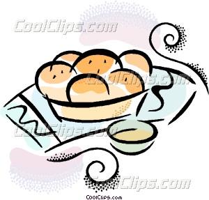 fresh baked bread Vector Clip art.
