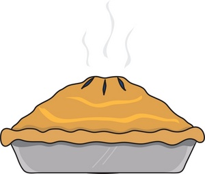 Baked pie clipart.