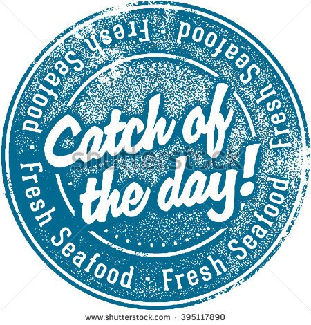 Fresh catch of the day clipart.