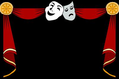 Drama School Clip Art, Curtains theater artists Curtains clip art.