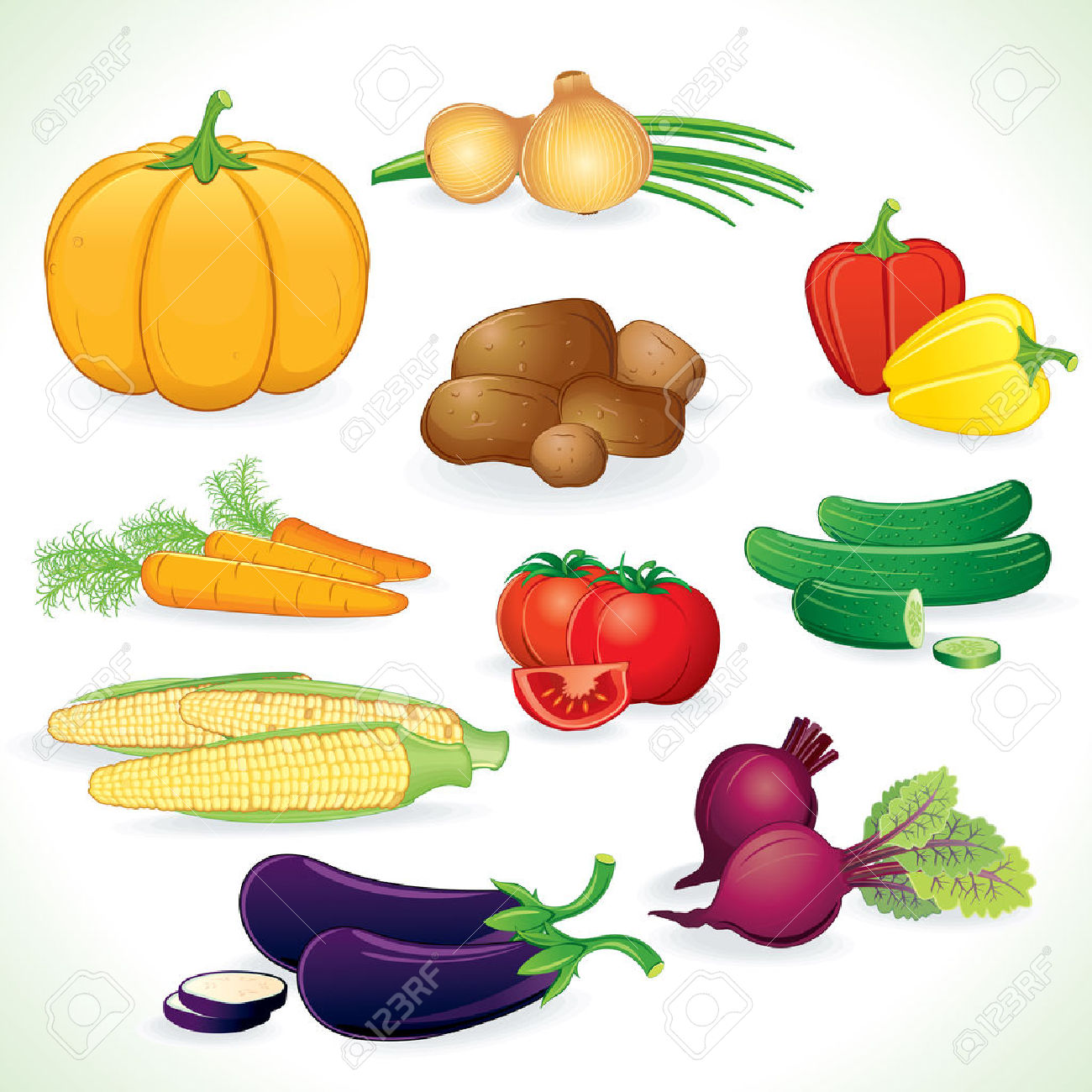 Fresh Colored Vegetables Crop Royalty Free Cliparts, Vectors, And.