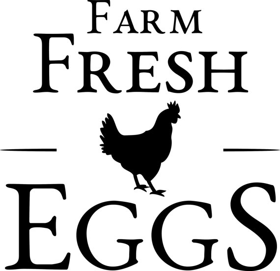 Farm Fresh Eggs Clipart.
