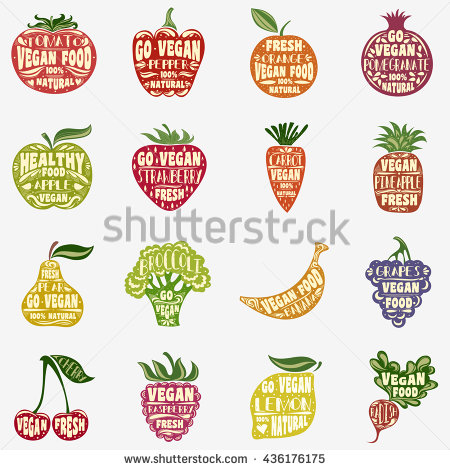 Vegetable Silhouette Stock Images, Royalty.