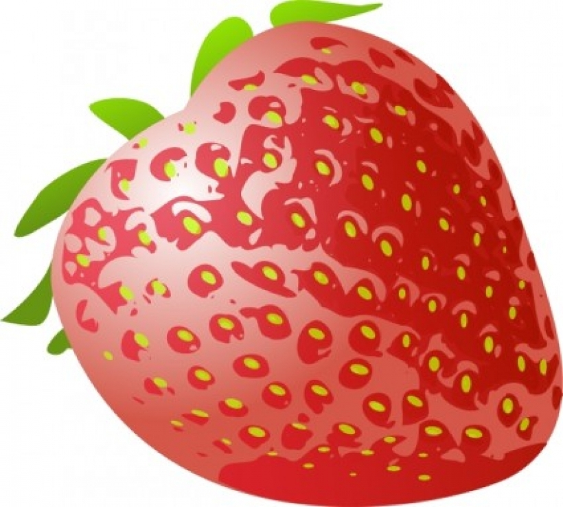 stawberry fresh fruit clip art free vector in open office drawing.