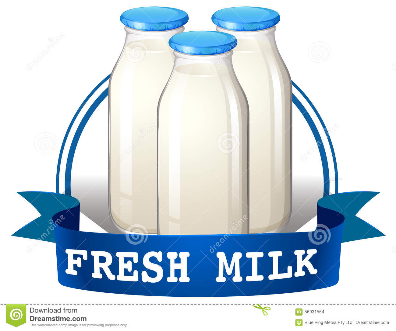 Dairy Product Stock Vector.