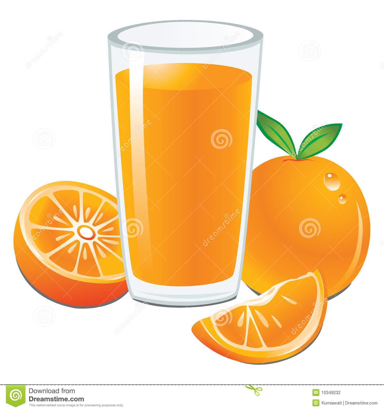 Clipart jus d'orange.