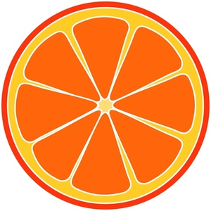 Fresh Orange Clip Art.
