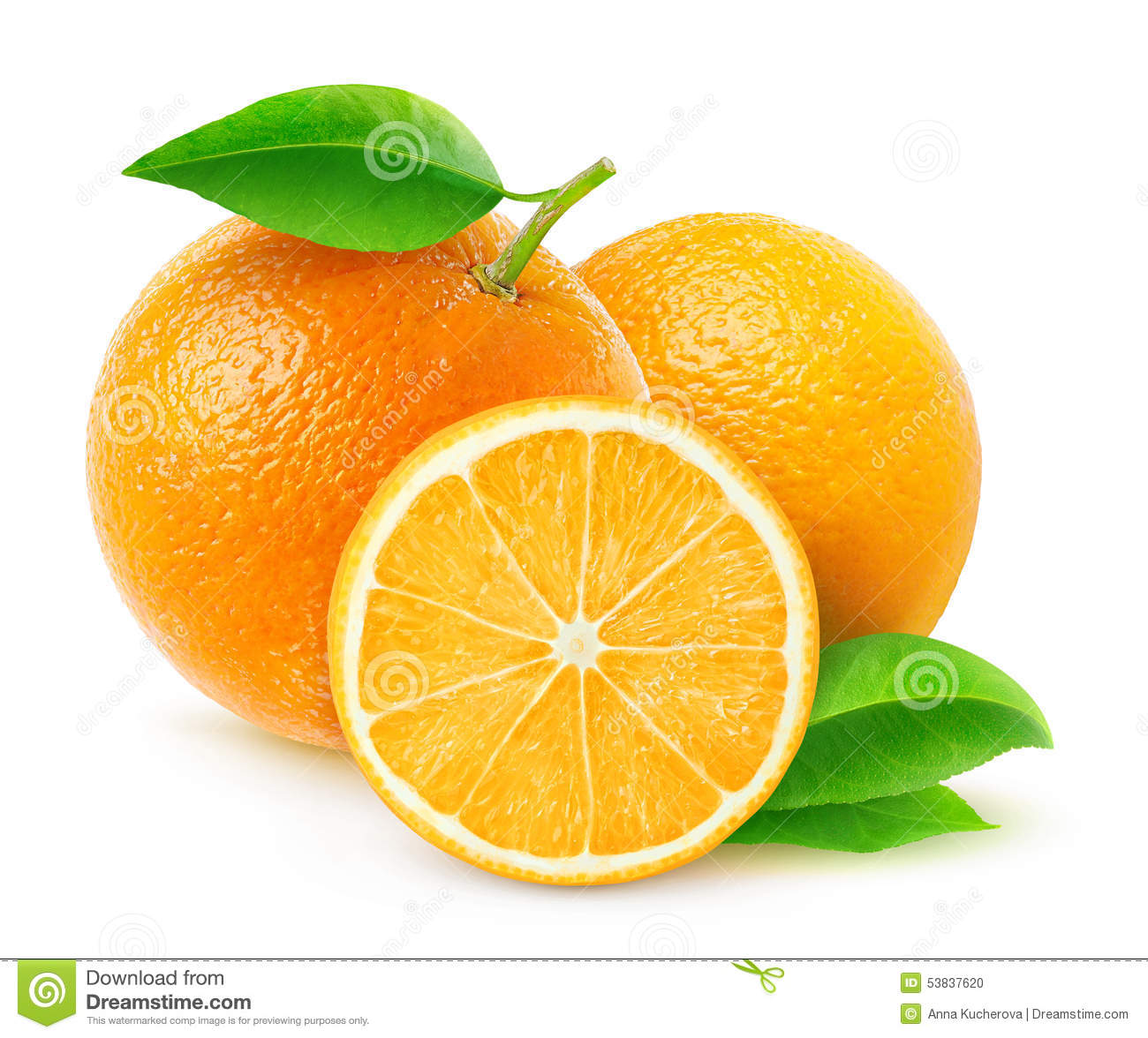 Fresh Oranges Clipart.