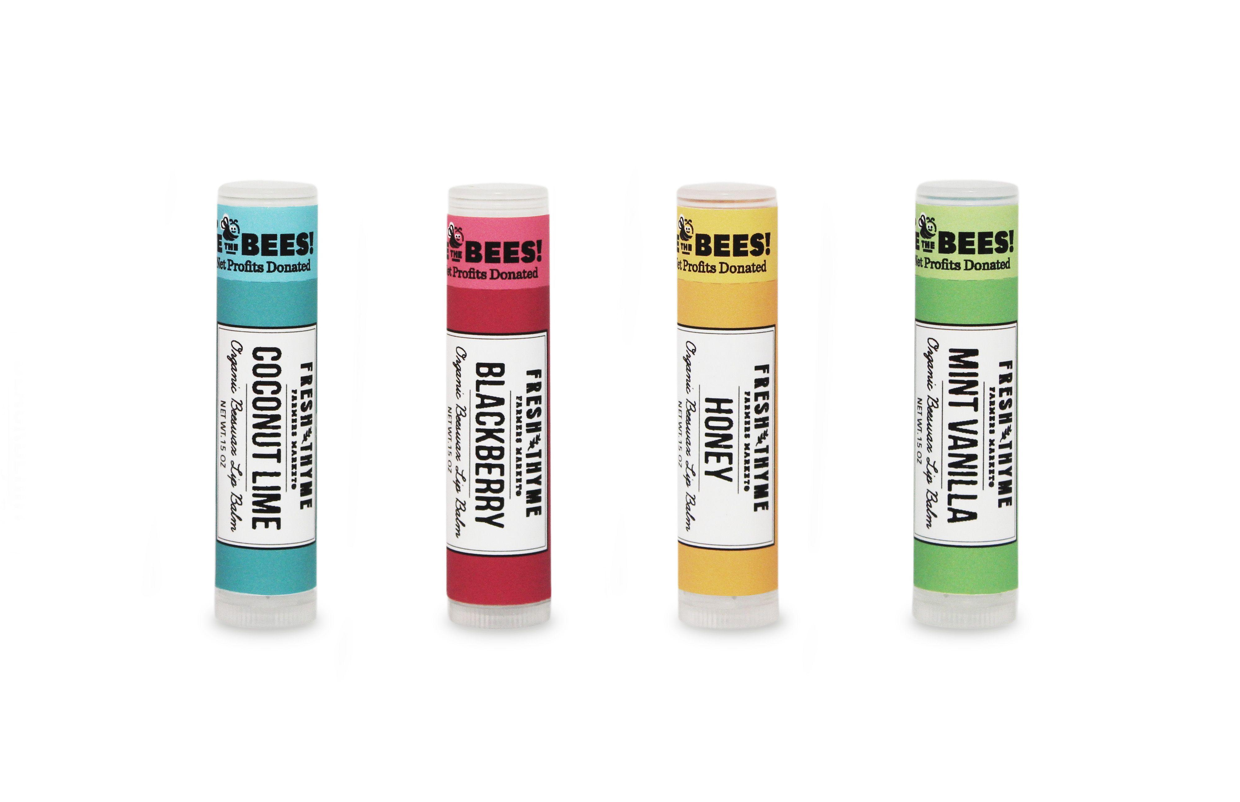 Fresh Thyme Organic Lip Balms.