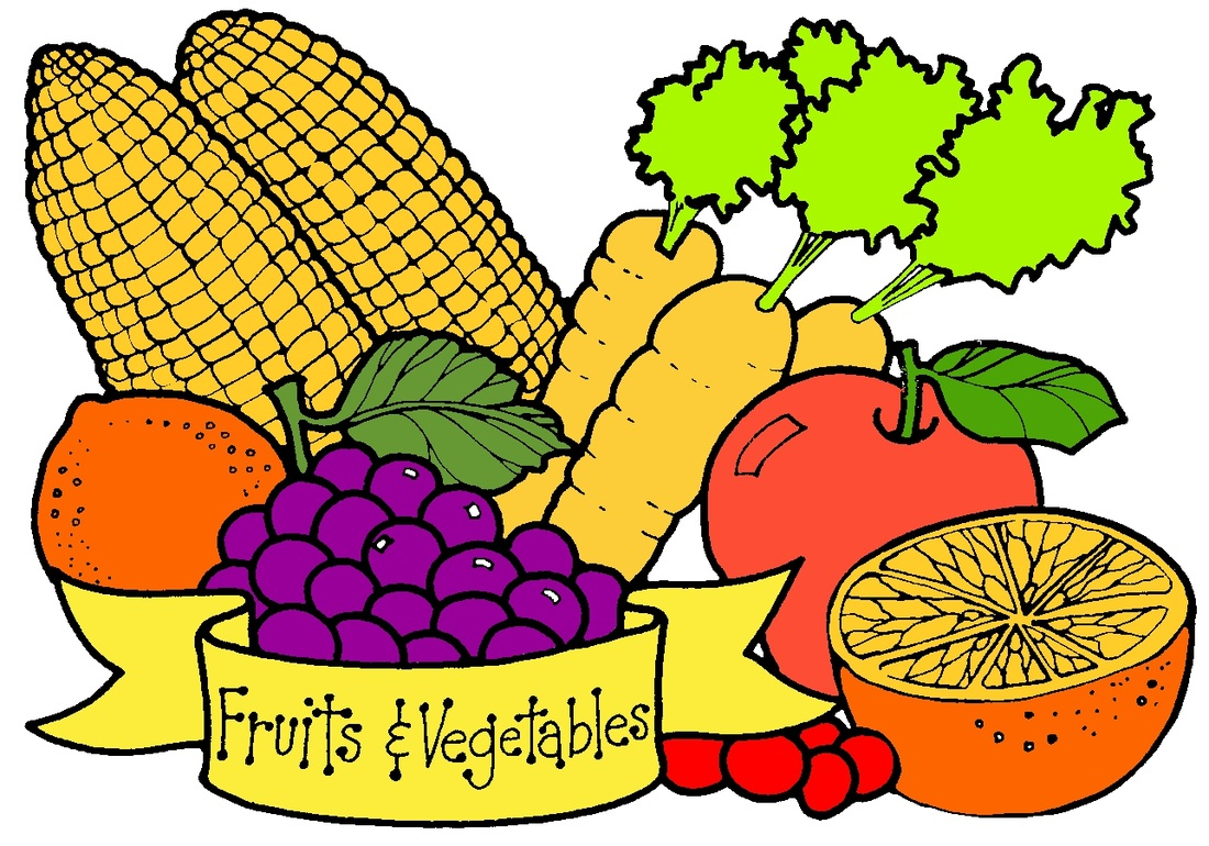 Fresh Vegetables Clipart.