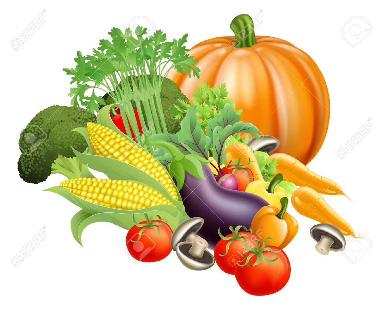 Market fresh vegetables clipart - Clipground