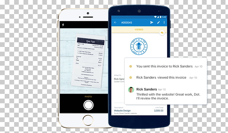 Smartphone Mobile Phones Invoice Service FreshBooks, small.