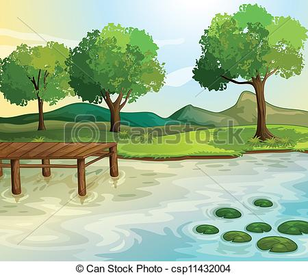 Vector Clipart of Lake.