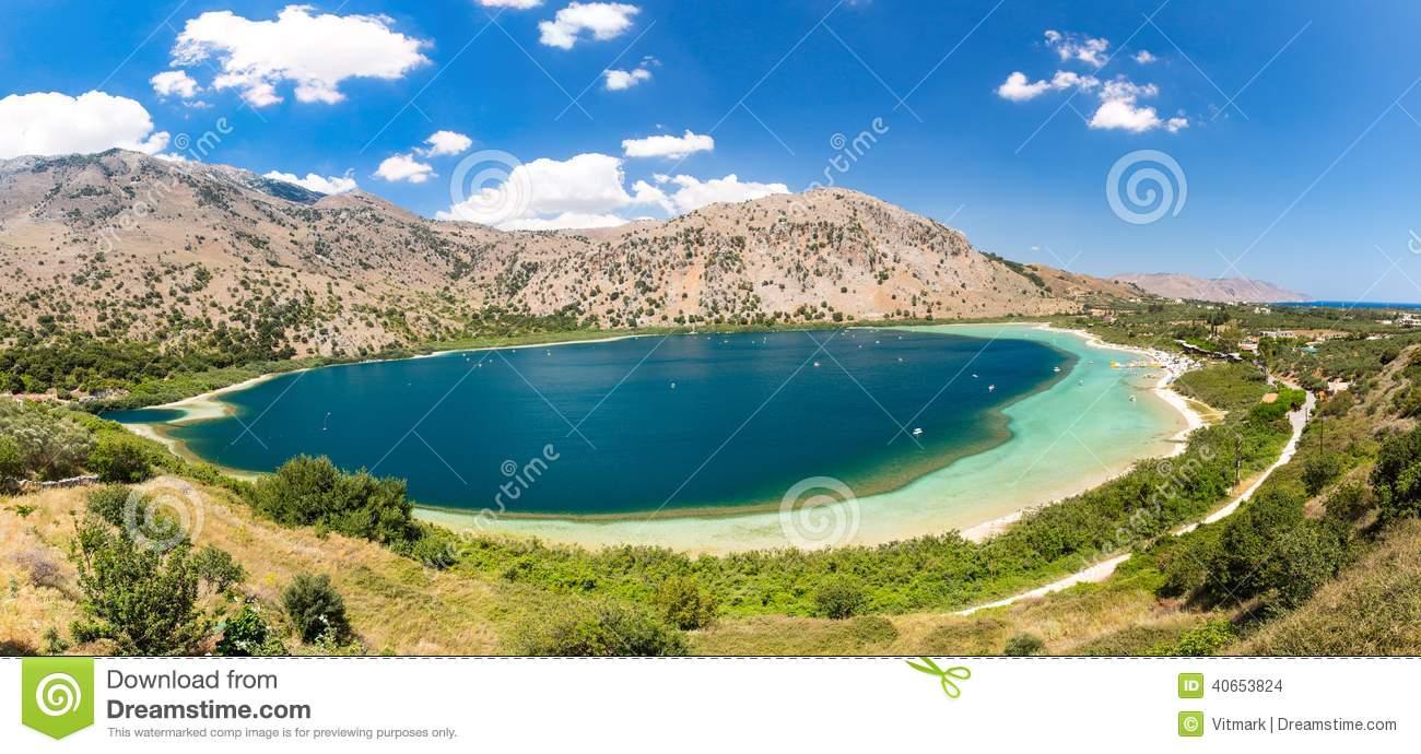 Freshwater Lake In Village Kavros In Crete Island, Greece. Magical.