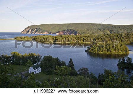 Picture of View of Freshwater Lake and South Ingonish Bay, Cape.