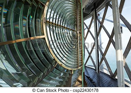 Picture of Huge Fresnel lens in a lighthouse.