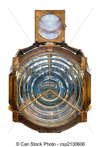 Stock Image of house fresnel lens isolated.